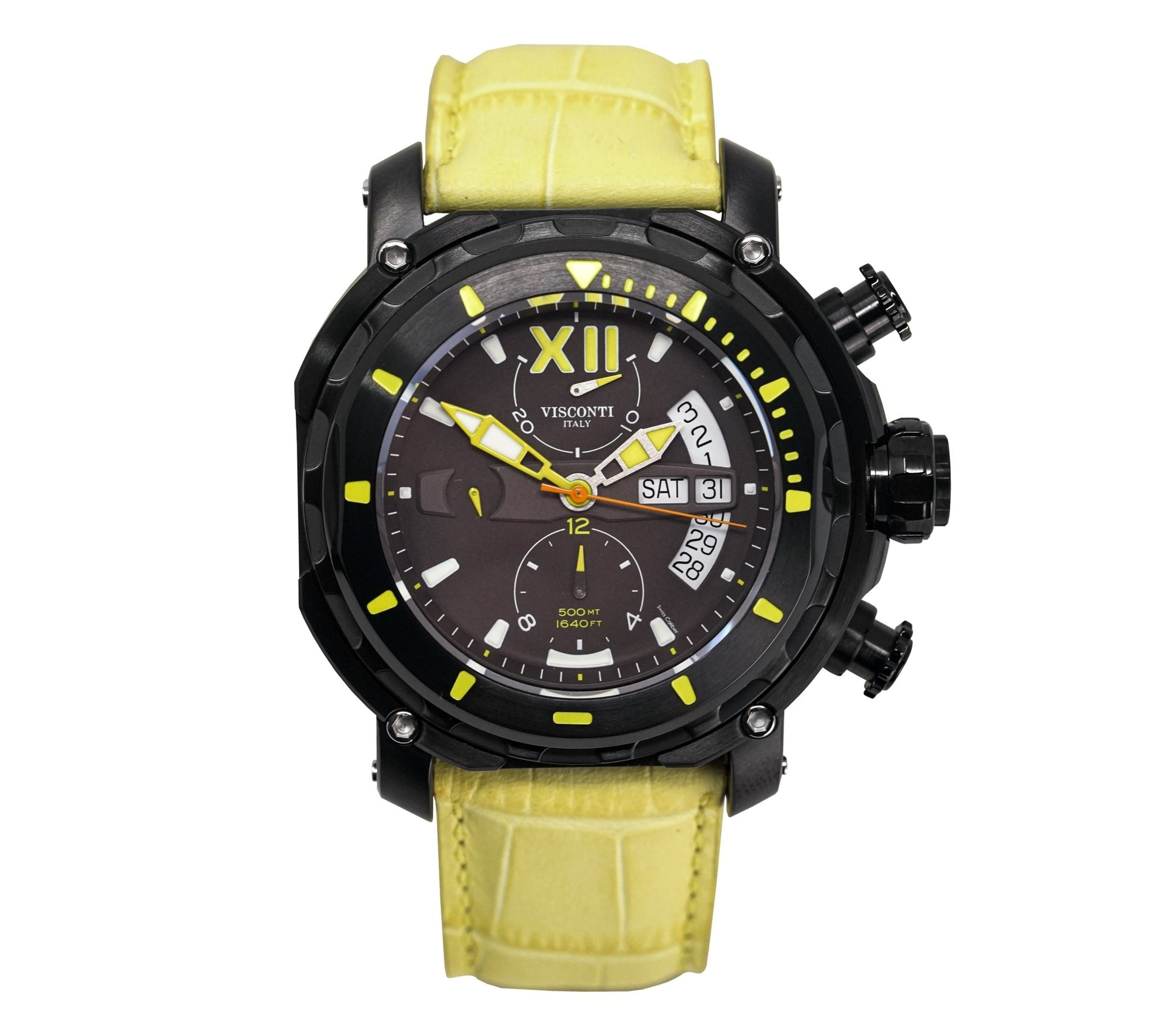 Visconti Full Dive 500M Chronograph Pale Yellow - Watches & Crystals