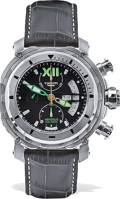 Visconti Full Dive 500M Diver Chronograph Steel - Watches & Crystals