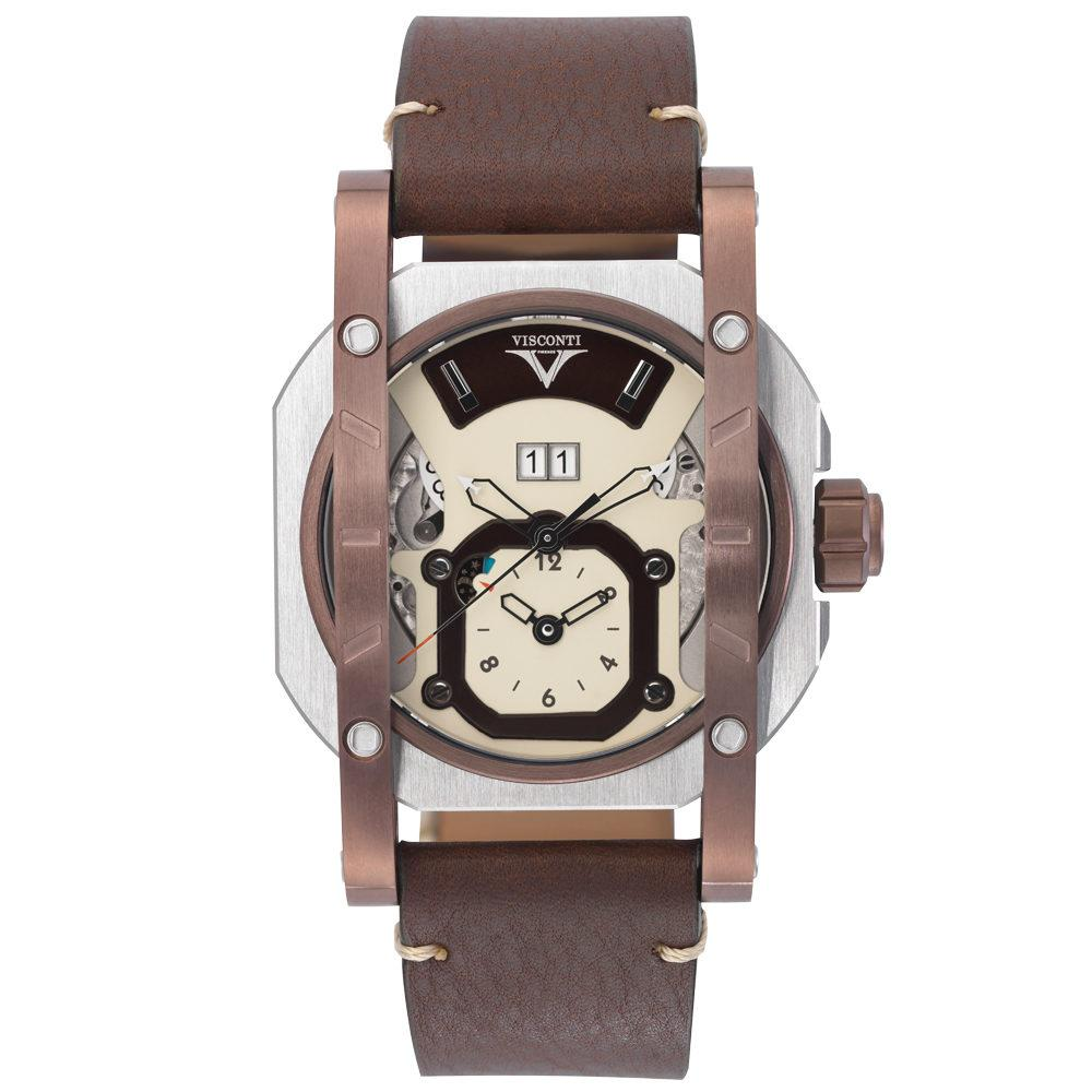 Visconti Grand Date GMT Brown Limited Edition - Watches & Crystals