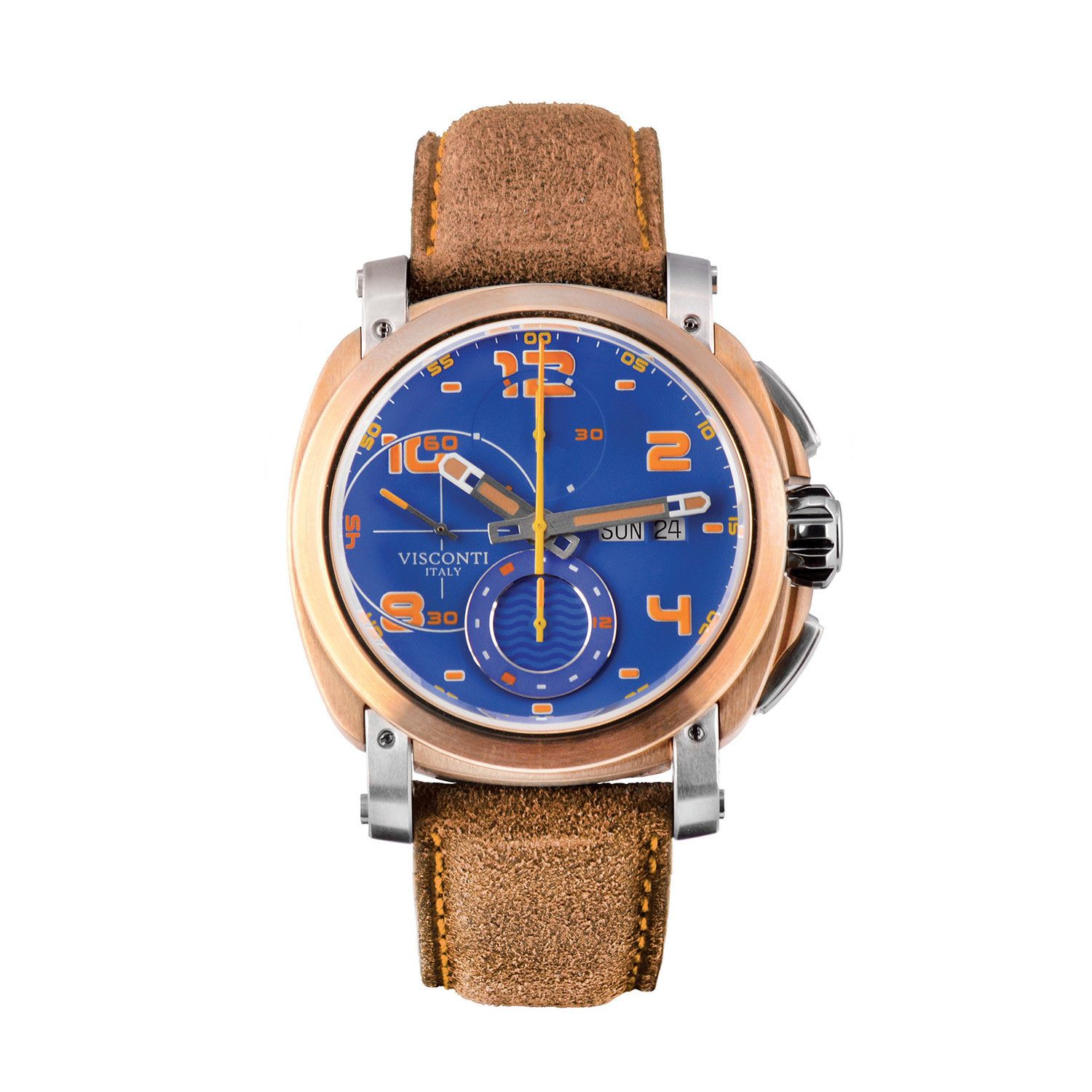 Visconti Isla Majorca Chronograph Day Date Brown Limited Edition - Watches & Crystals