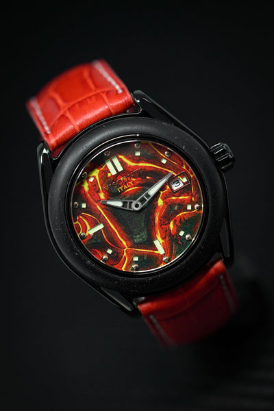 Visconti Lava Emotion Date Red - Watches & Crystals