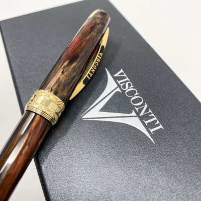Visconti Michelangelo Imperial Ballpoint Pen Brown 29770+ - Watches & Crystals