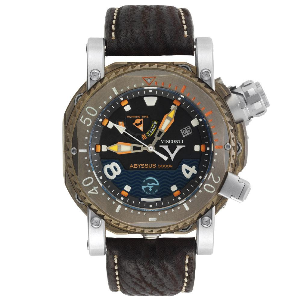 Visconti Pro Dive Abyssus 3000M Diver Leather Strap - Watches & Crystals