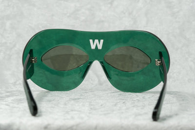 Walter Van Beirendonck Sunglasses Special Frame Green and Dark Grey Lenses - WVB3C5SUN - Watches & Crystals