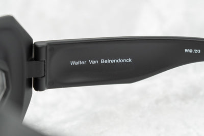 Walter Van Beirendonck Sunglasses Special Frame Matte Black and Clear Lenses - WVB2C3SUN - Watches & Crystals