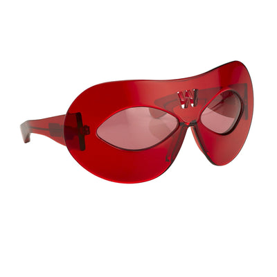 Walter Van Beirendonck Sunglasses Special Frame Red and Red Lenses - WVB3C6SUN - Watches & Crystals