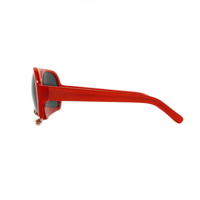 Walter Van Beirendonck Sunglasses Special Frame Red/Beige Bone and Grey Lenses - WVB7C1SUN - Watches & Crystals