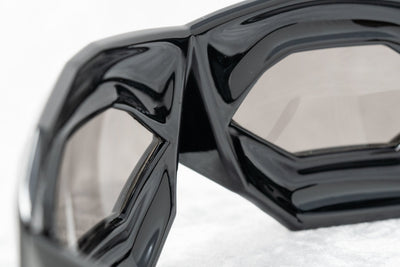 Walter Van Beirendonck Sunglasses Special Frame Shiny Black and Dark Grey Lenses - WVB2C1SUN - Watches & Crystals