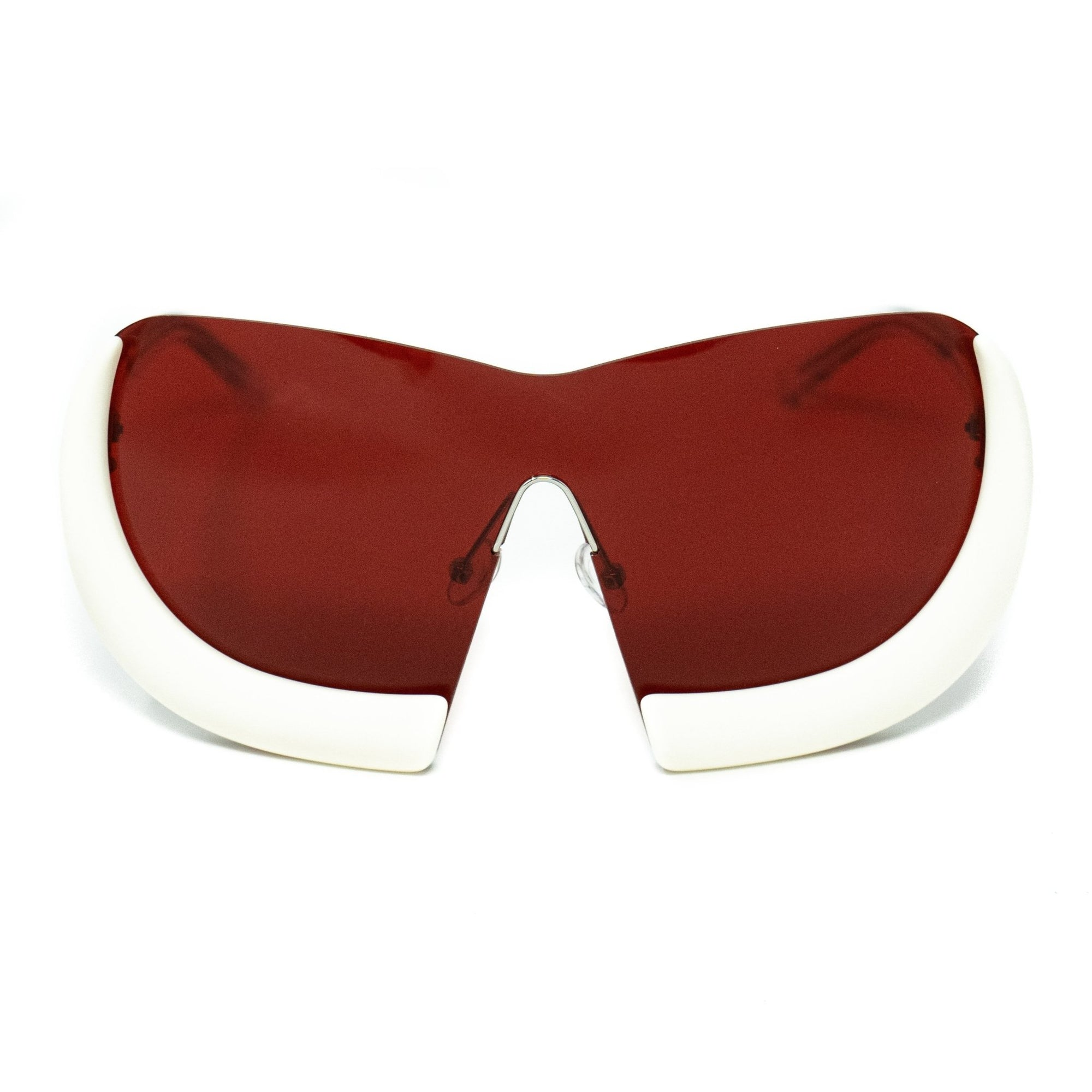 Walter Van Beirendonck Sunglasses Special Shield Frame with Red Lenses - WVB6C1SUN - Watches & Crystals