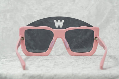 Walter Van Beirendonck Sunglasses Square Pink and Dark Grey Lenses - WVB1C5SUN - Watches & Crystals