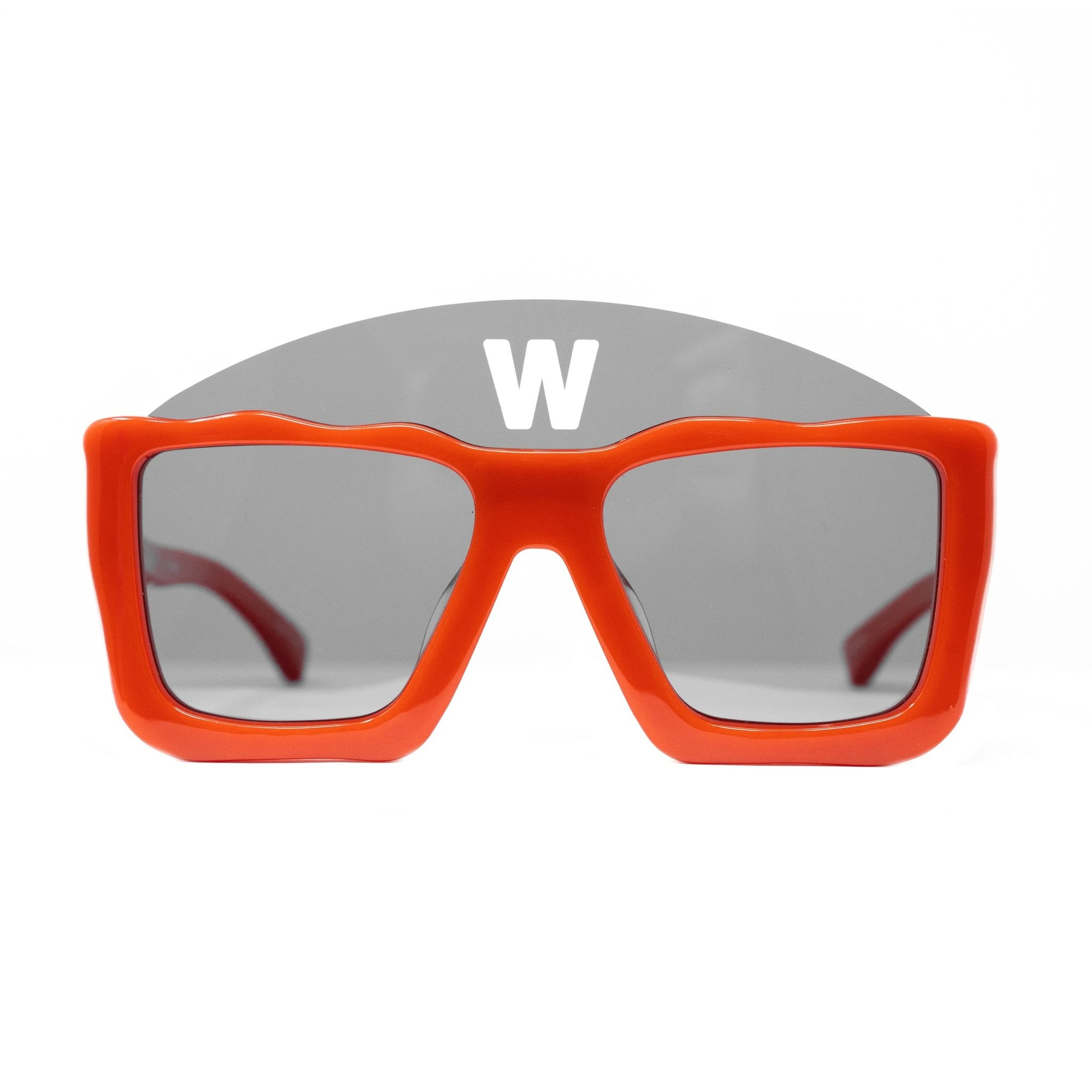 Walter Van Beirendonck Sunglasses Square Red and Dark Grey Lenses - WVB1C6SUN - Watches & Crystals
