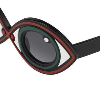 Yaz Bukey Sunglasses Eye Spy Green Eyes Special Edition YAZ2C2SUN - Watches & Crystals