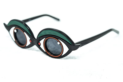 Yaz Bukey Women Sunglasses Brown Eyes Green Eyeliner Yazette With Grey Lenses Category 3 YAZ5C2SUN - Watches & Crystals