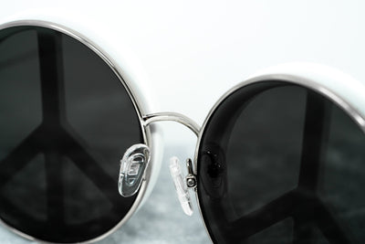 Yaz Bukey Women Sunglasses Peace White/Silver With Grey Lenses Category 3 YAZ8C1SUN - Watches & Crystals