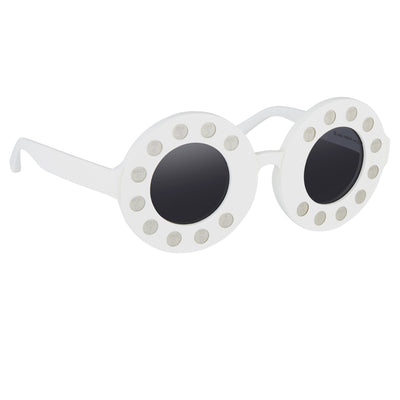 Yaz Bukey Women Sunglasses Telephone White With Grey Lenses Category 3 YAZ24C3SUN - Watches & Crystals