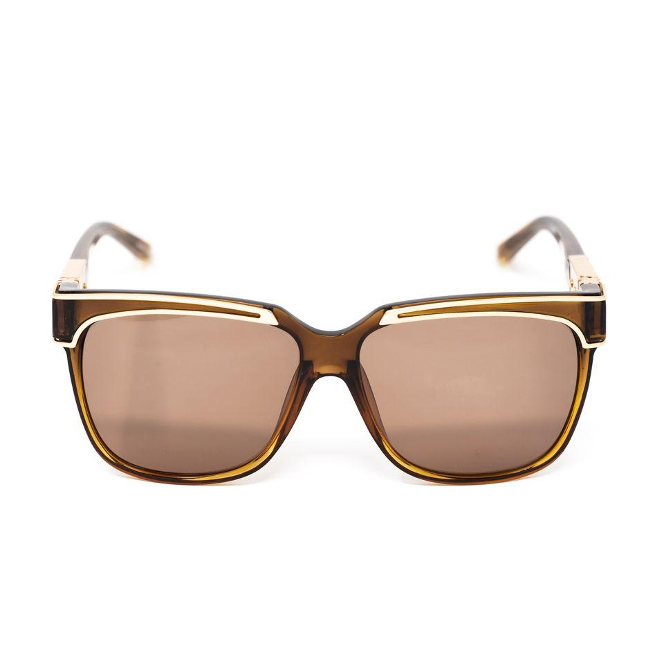 Yohji Yamamoto Unisex Sunglasses Rectangular Brown and Bronze Lenses Category 3 - YY16THORNC2SUN - Watches & Crystals