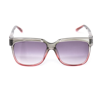 Yohji Yamamoto Unisex Sunglasses Rectangular Grey/Pink and Purple Lenses Category 3 - YY16THORNC4SUN - Watches & Crystals
