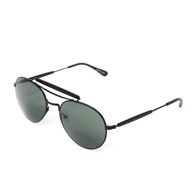 Yohji Yamamoto Unisex Sunglasses Round Black and Dark Grey Lenses Category 3 - YY12RIDERC3SUN - Watches & Crystals