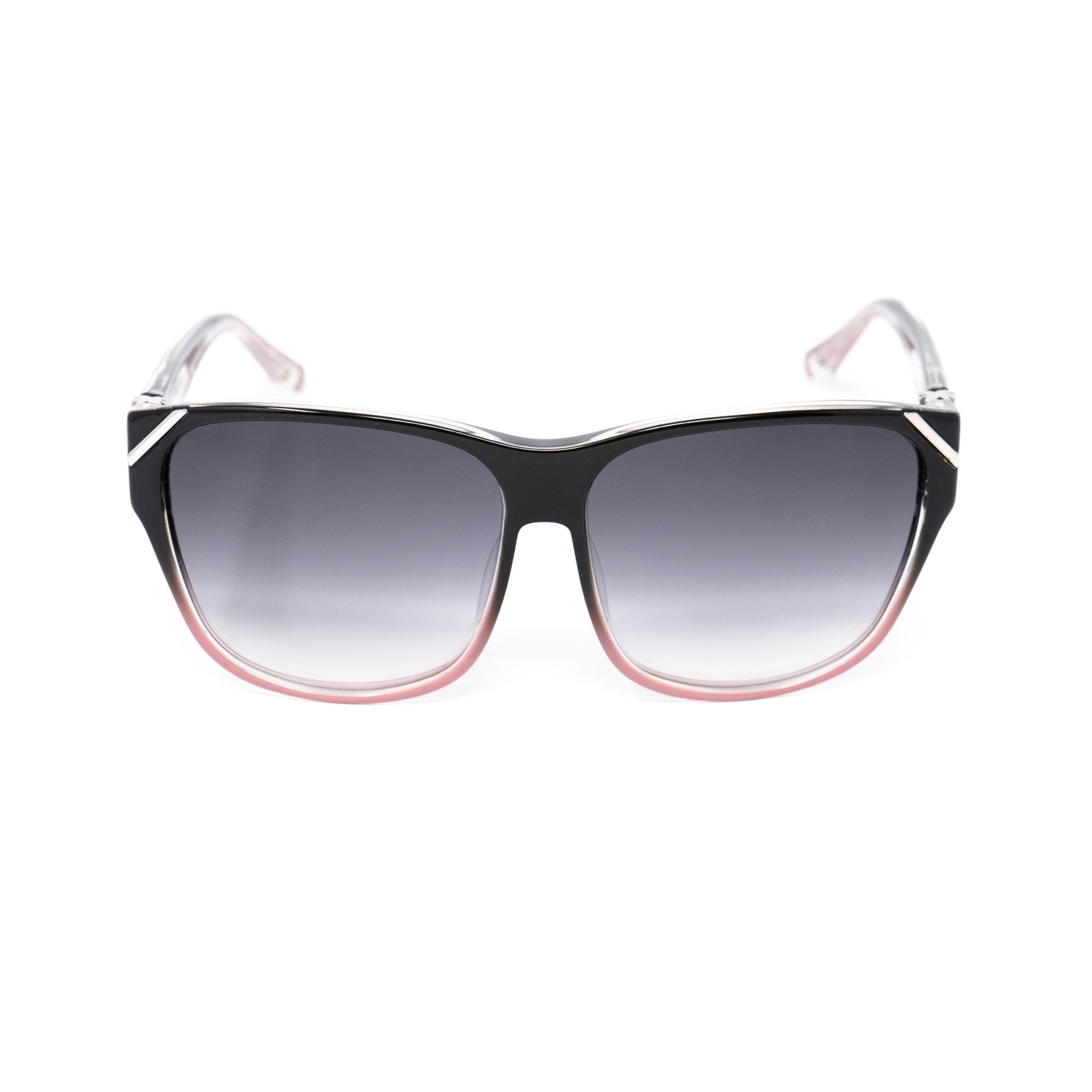 Yohji Yamamoto Unisex Sunglasses Square Black/Pink and Grey Lenses - YY15C4SUN - Watches & Crystals