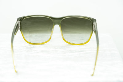 Yohji Yamamoto Unisex Sunglasses Square Green/Yellow and Green Lenses - YY15C1SUN - Watches & Crystals