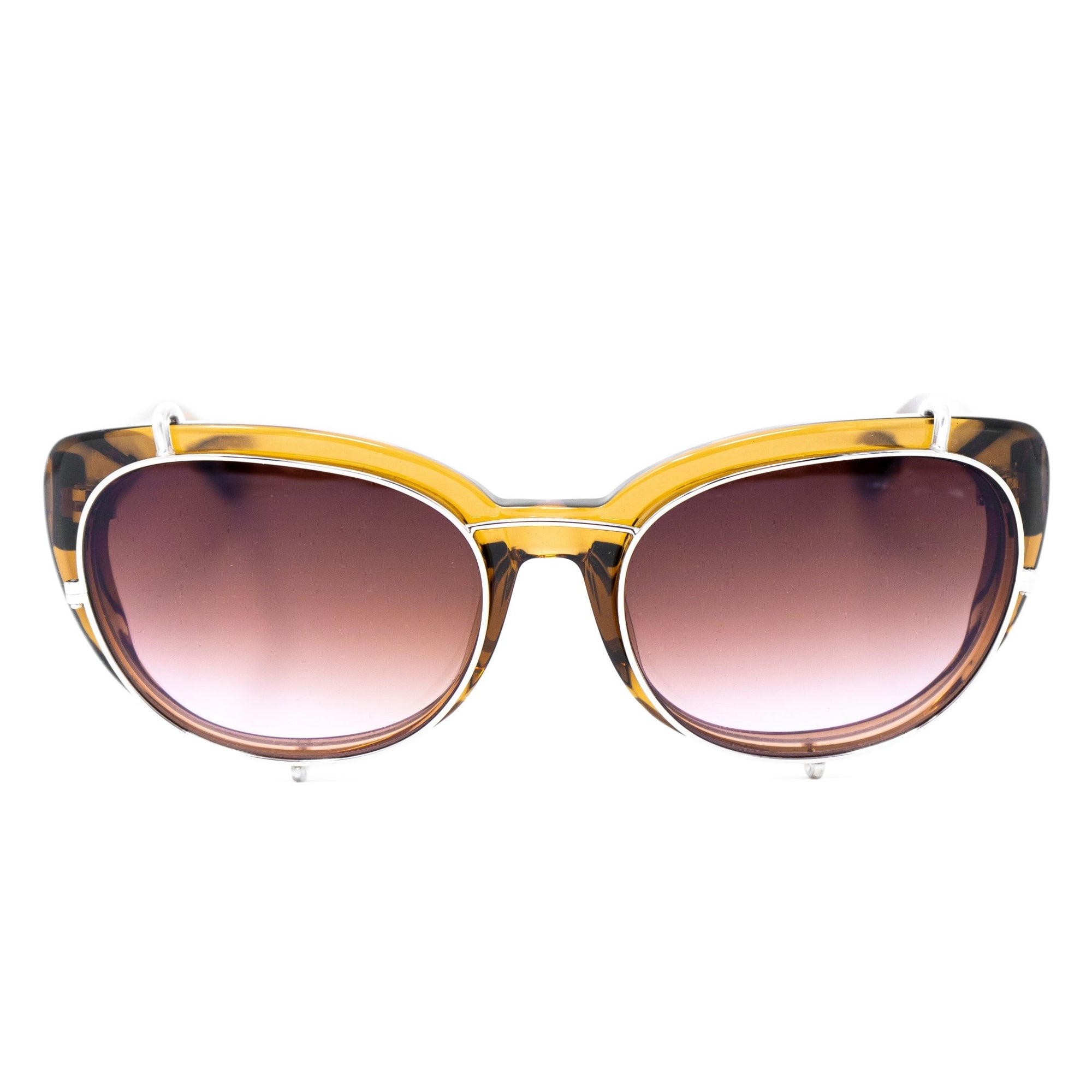 Yohji Yamamoto Women Sunglasses Cat Eye Brown and Brown/Pink Graduated Lenses - 9YYEBUTTERFLYC3BROWN - Watches & Crystals