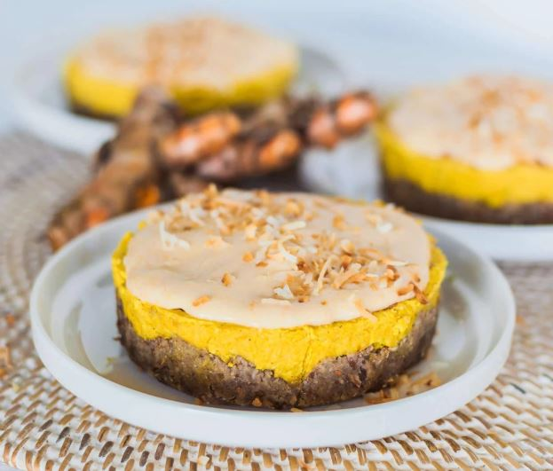 Raw Mango and Turmeric Tart