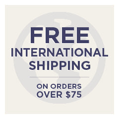 Free International Shipping over $75