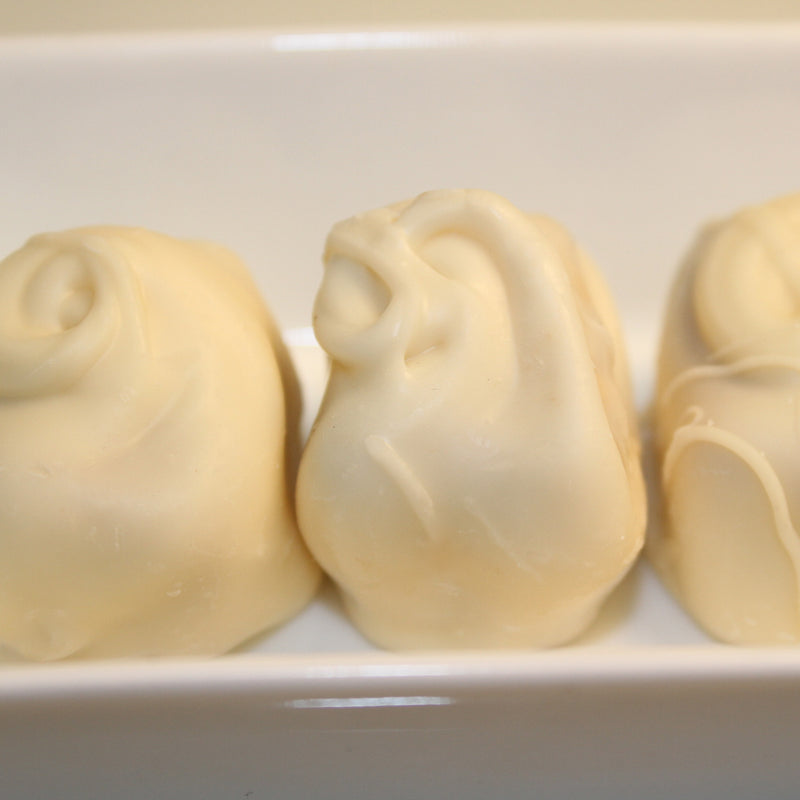 Vanilla Goat's Milk Fudge Dipped in White Chocolate