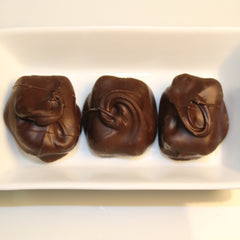 Chocolate Pecan Goat's Milk Fudge Dipped in Dark Chocolate