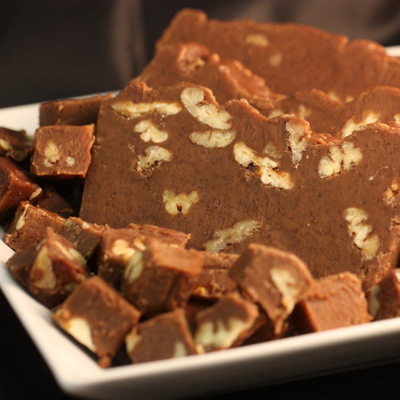 Chocolate Walnut Goat's Milk Fudge