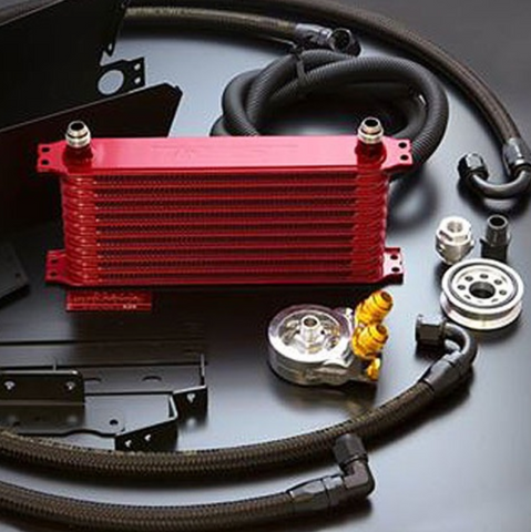 GReddy Oil Cooler Kit Red - FR-S/BRZ/86