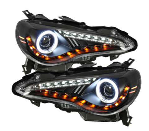 Spyder FR-S Projector Headlights LED DRL