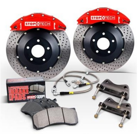 StopTech Big Brake Kit Front ST-40 Red Caliper Slotted - FR-S/BRZ/86
