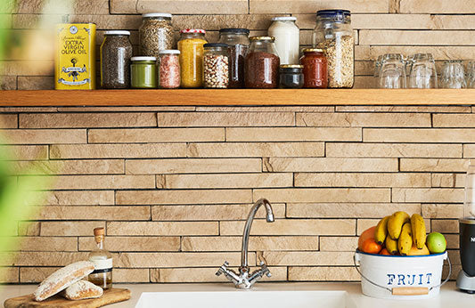 reusable jars in the kitchen