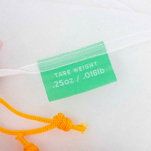 reusable produce bags with tare weight