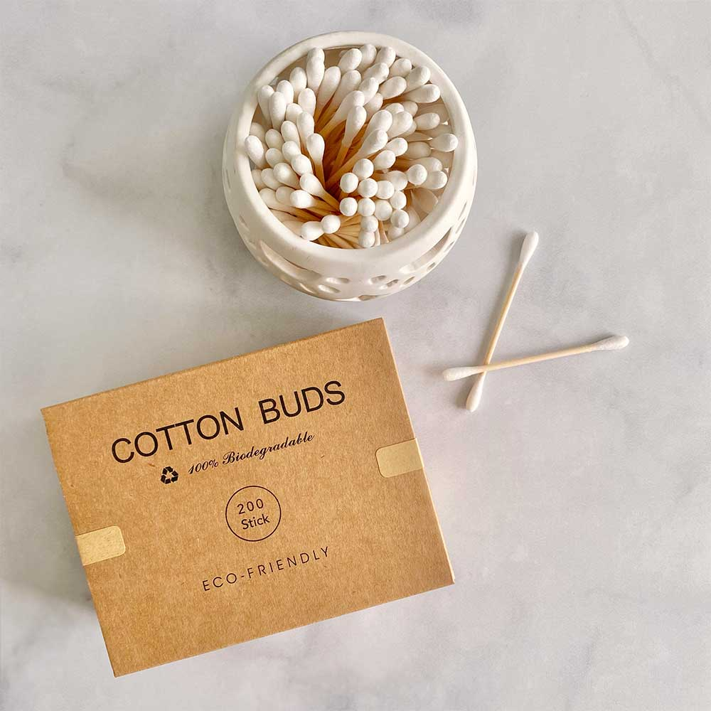 Plastic-free Bamboo Cotton Swabs