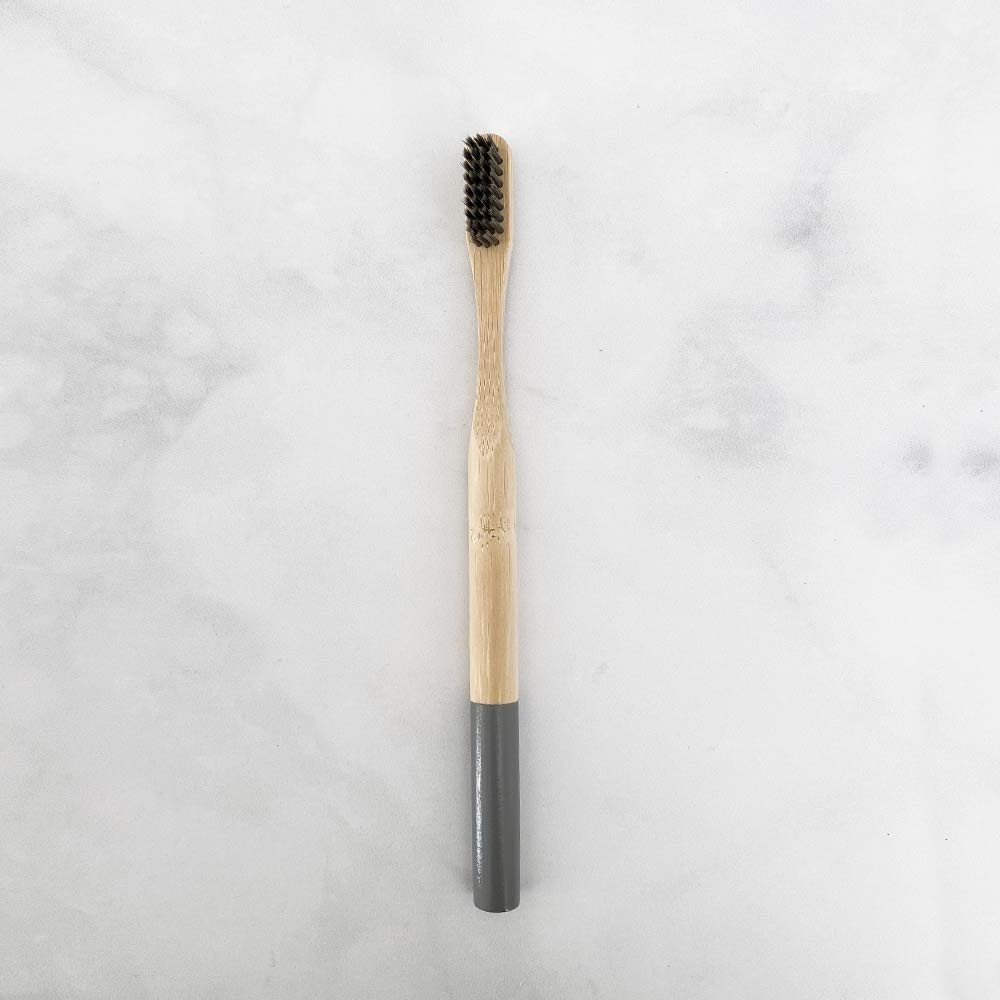 bamboo biodegradable toothbrush grey