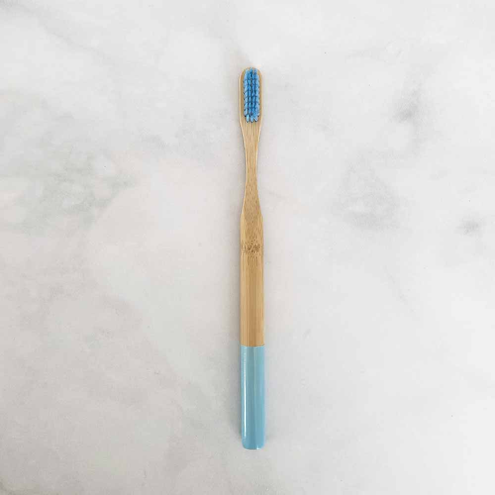 bamboo toothbrush light blue