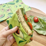 beeswax sandwich bags avocado
