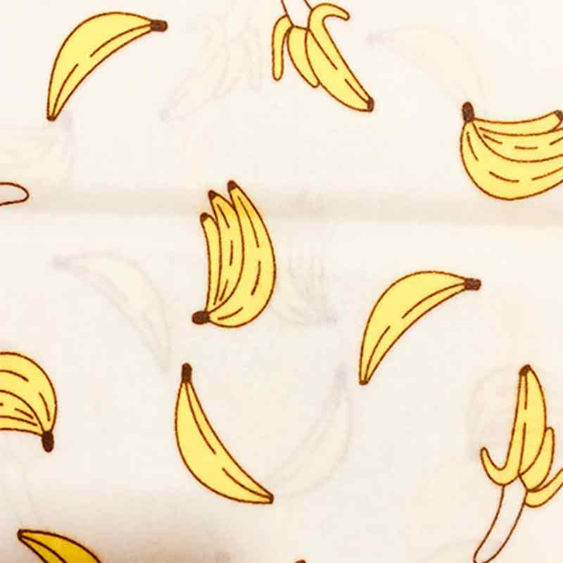 beeswax food wrap banana pattern