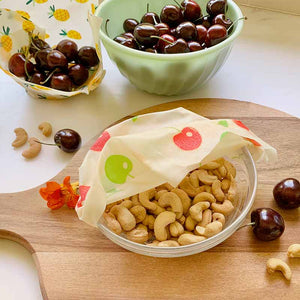 beeswax wraps fruit nuts