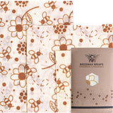 Beeswax Wrap - flower print