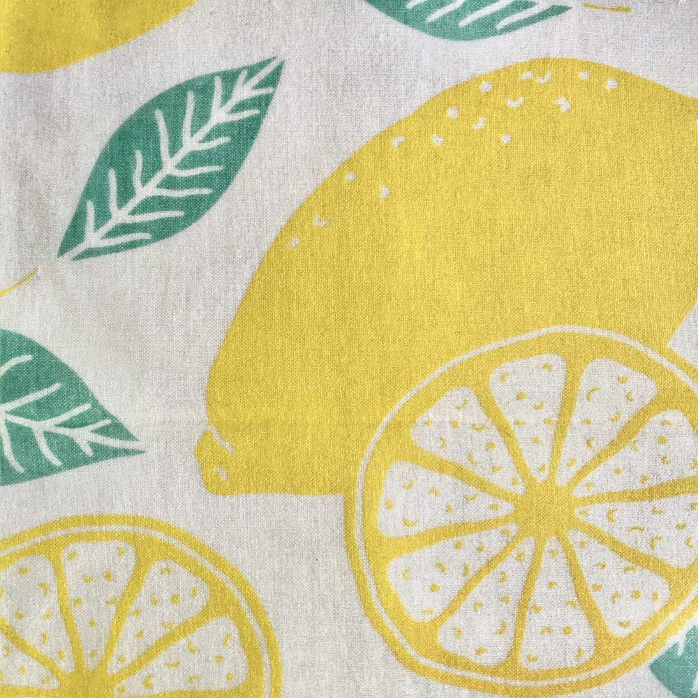 beeswax food wrap lemon pattern