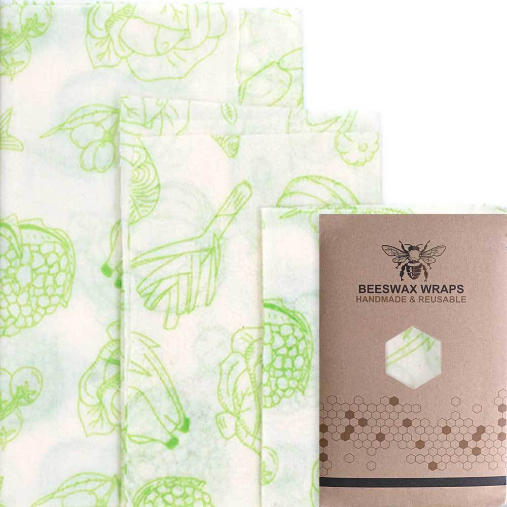 Reusable eco-friendly plastic wrap from beeswax 3 sizes