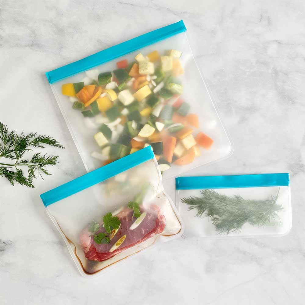 Sampler Bundle - Reusable Food Storage Bags (Set of 5)