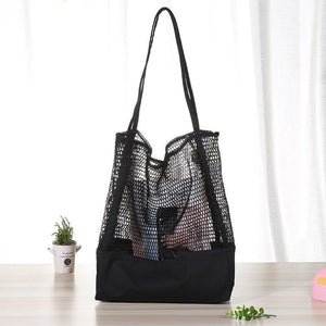 black mesh shopping bag