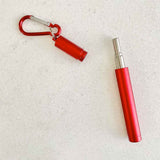 collapsible straw red