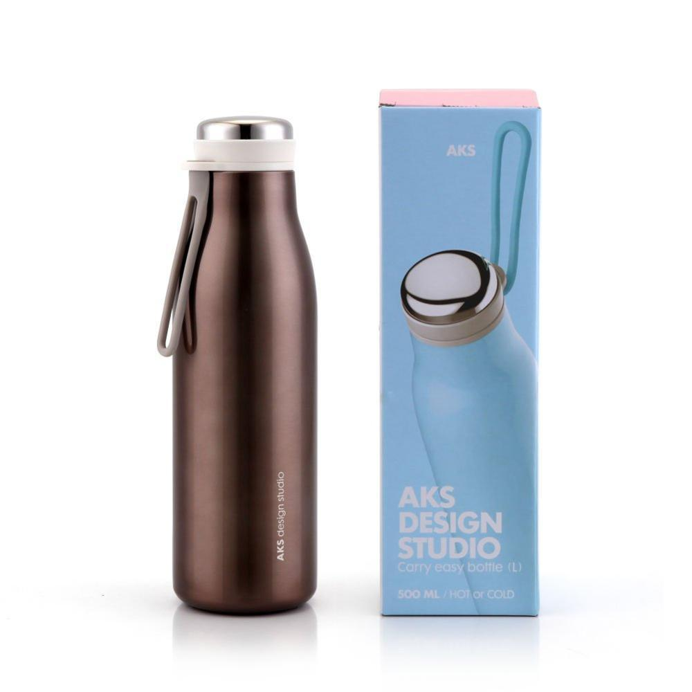 AKS design studio water bottle brown