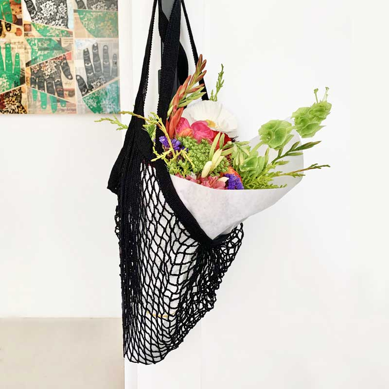 net shopping bag black