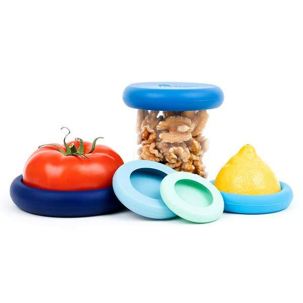 Food Huggers Fruit & Veggie Food Savers in Blue